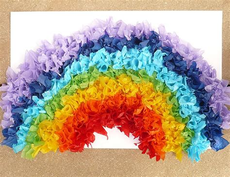 Tissue Paper Craft - rainbow crafts god keeps his promises