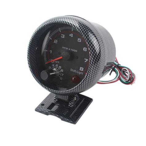 Takometer Tachometer Rpm Meter Shift Light 52mm car auto tacho tachometer blue digital led