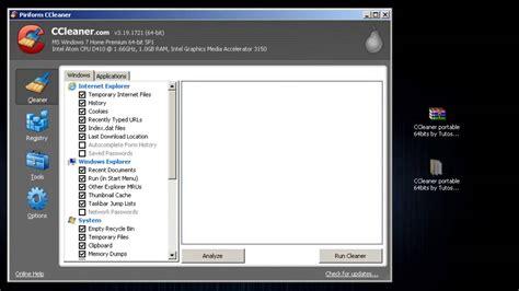ccleaner youtube 2013 descargar ccleaner portable 32bits o 64bits 2013 youtube
