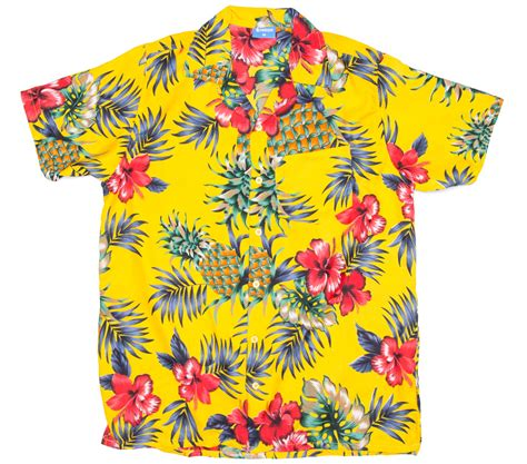 pattern hawaiian shirt pineapple hibiscus pattern print hawaiian shirt ragstock