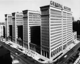 general motors headquarters 1950s detroit michigan