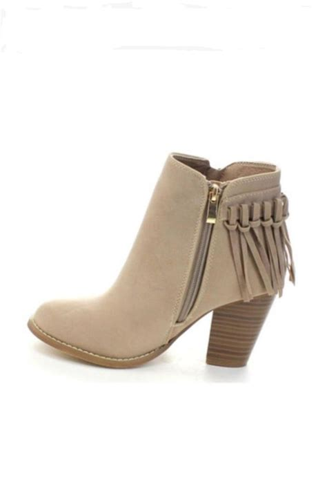 fringe booties taupe fringe bootie from new orleans by s