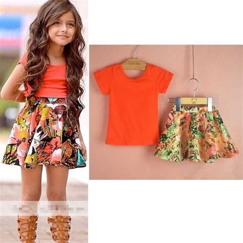summer casual clothes set children sleeve t