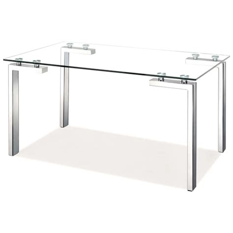 roca modern dining table tempered glass stainless steel