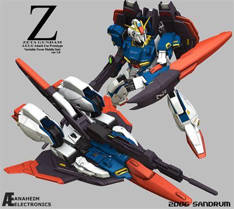 Figure Karakter Gundam Zeta Z zeta gundam variable form by sandrum on deviantart