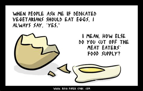 vegetarians should eat eggs a rock paper cynic comic