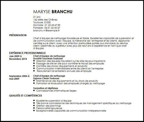 Manager Resume Samples by Cv Chef D Equipe Technique Exemple Cv Chef D Equipe