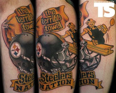 steelers tattoo 17 best images about steelers tattoos on
