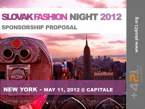 Slovak Fashion Night 2012 Sponsorship Proposal Sponsorship Ppt