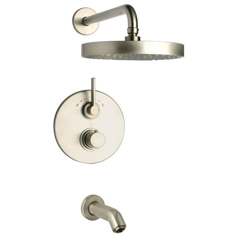 Tub And Shower Faucets Brushed Nickel by Glacier Bay Builders 1 Handle 1 Spray Tub And Shower