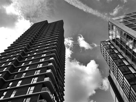 free stock photo of architecture black and white buildings
