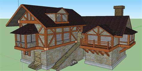 casa medievale modello 3d casa medievale