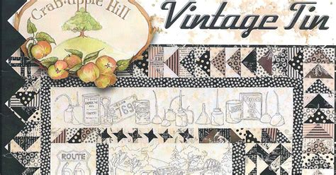 Vintage Tin Quilt by Quilting Quot Vintage Tin Quot Has Arrived