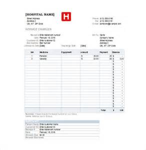 hospital invoice template doc 660750 hospital invoice template invoice