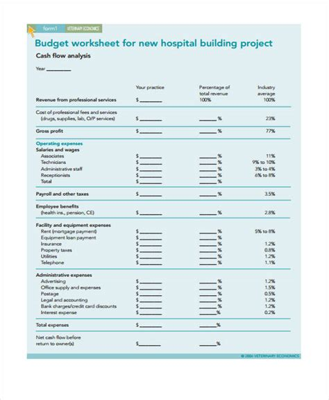 hospital budget template hospital budget template composition exle resume