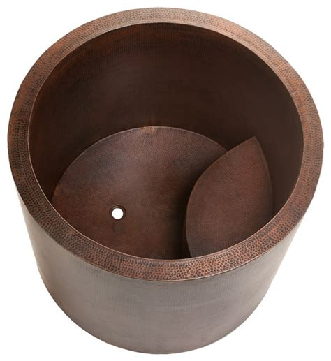 japanese style soaking copper bath tub asian bathtubs