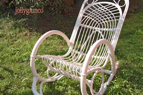 sedie in vimini da interno produzione sede a dondolo in bambu e rattan