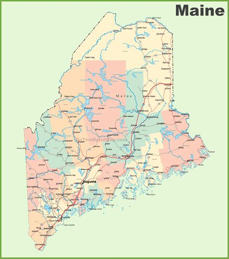 city map of maine road map of maine with cities