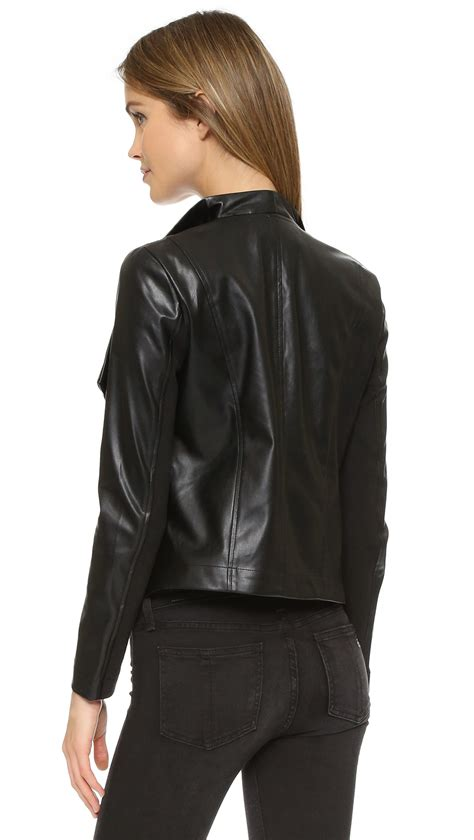 bb dakota drape jacket bb dakota ariana drape front jacket in black lyst