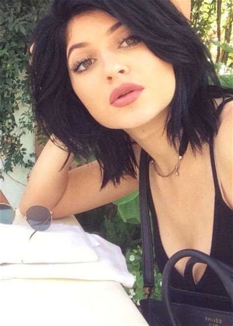 what would i look like with black hair follow me kylie jenner hair and short hairstyles on pinterest