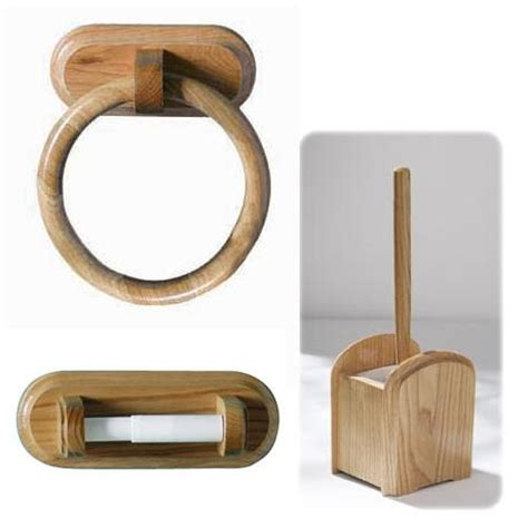 wooden bathroom accessories 3 oak wooden bathroom set at