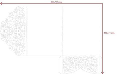 Tri Fold 5x7 Wedding Invitation Pocket Envelope Svg Template Quinceanera Card Laser Cut File 5x7 Tri Fold Template