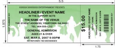 Concert tickets design and print your own tickets for a concert or