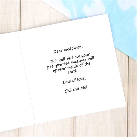 message to thank you swimming lessons personalised card by chi chi