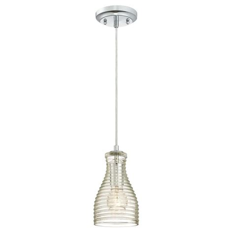 Blown Glass Mini Pendant Lights Westinghouse 1 Light Brushed Nickel Adjustable Mini Pendant With Blown Clear Seeded Glass
