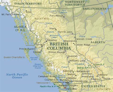 canadian map bc map of bc vancouver island map bc