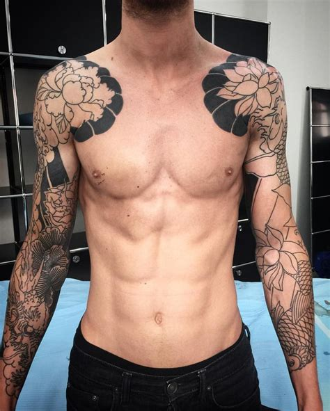 dope chest tattoos 8733 best images on guys asian guys