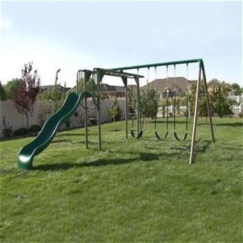 lifetime swing set with monkey bars lifetime 174 monkey bar adventure swing set for the kids