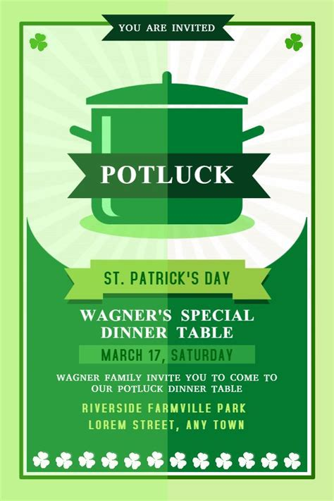 saint patricks day party flyer template awesomeflyer com