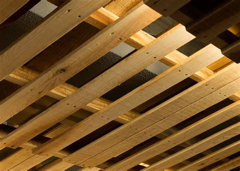 Project On Your Ceiling by Ingenious Low Cost Renovation Of An Office Featuring Pallets
