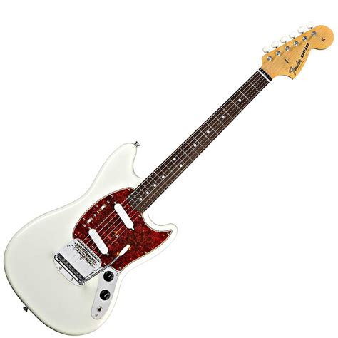 fender classic series 65 mustang electric guitar olympic