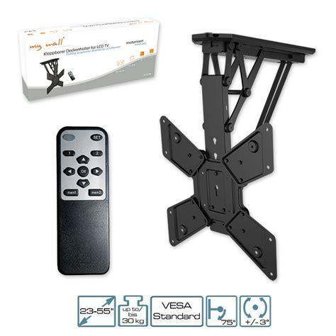 supporto soffitto tv tv supporto motorizzato con telecomando ir pieghevole da