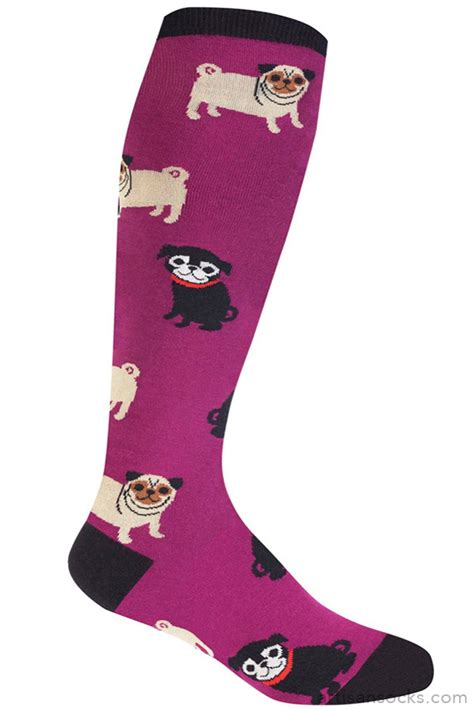 stretch pug pug knee high socks stretch it stretchy version