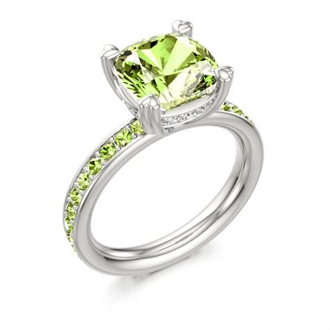 Peridot Engagement Rings by Peridot Engagement Ring By Stephen Clarke At Colors Of