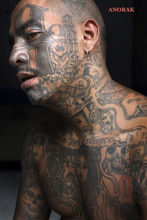 gang tattoo anorak in photos the tattooed faces of ms 13 and 18th