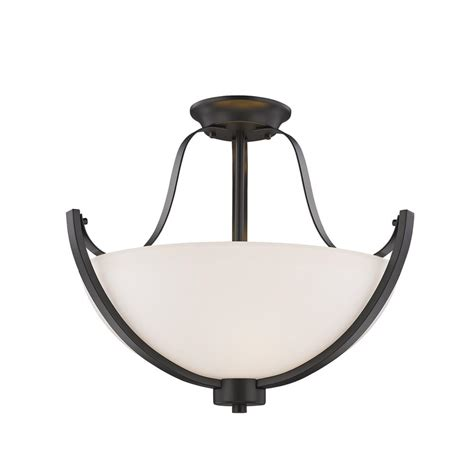 bronze semi flush mount light filament design 1 light bronze semi flushmount ect
