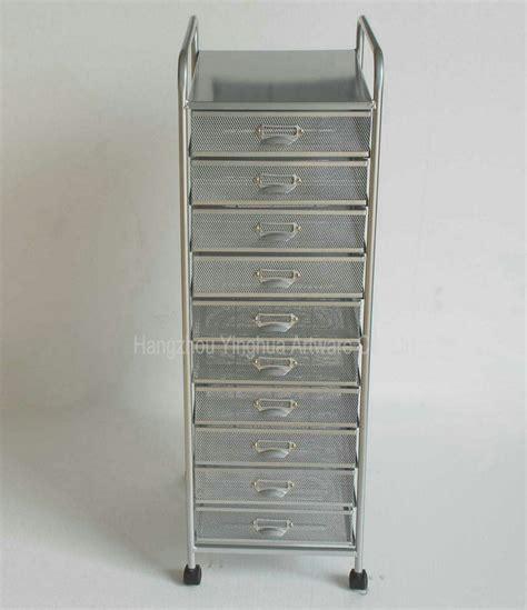 mesh drawer organizer cart china mesh roing file storage cart 10 drawers yh5122042