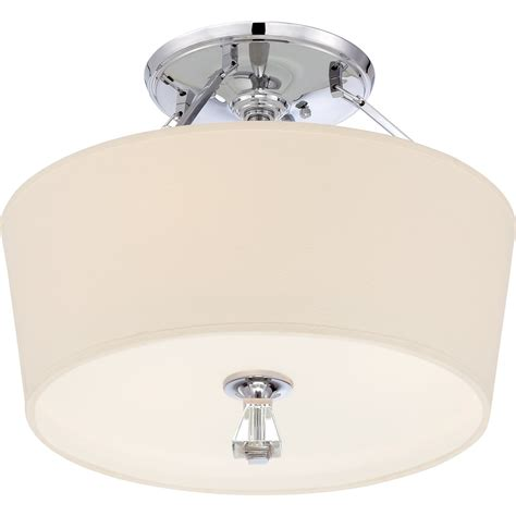 quoizel dx1718c deluxe modern contemporary semi flush