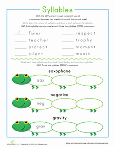 vcv pattern games syllable patterns vcv worksheet education com