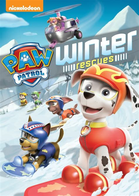 pow patrol paw patrol winter rescues available on dvd on october 7
