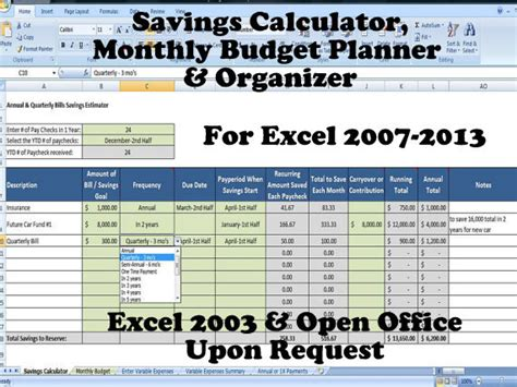 Savings Goal Calculator Excel Simple Target Savings Calculator Budget To Save Money Template