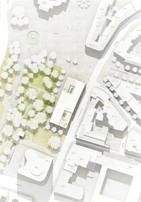 architectural site plan be baumschlager eberle opernplatz 2 frankfurt 4 site plans master plans