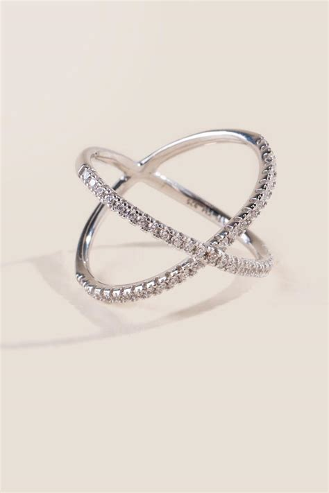 sterling silver criss cross ring s
