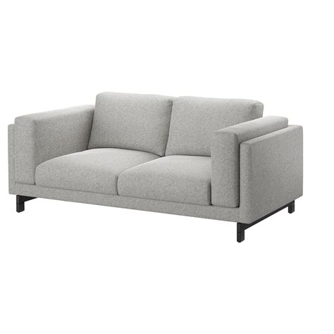 ikea nockeby sofa discontinued nockeby two seat sofa tallmyra white black wood ikea