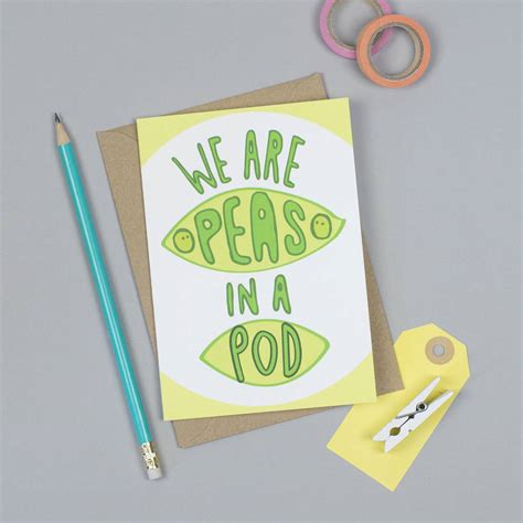 Pea In The Pod Gift Card - peas in a pod card by jane katherine houghton designs notonthehighstreet com