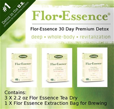 Flor De Lima Detox Water by Flor Essence Tea 30 Day Premium Detox